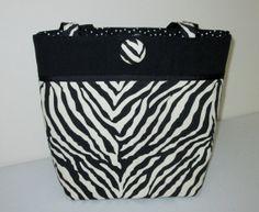 Jacqueline  black zebra medium tote by kaydeesbagboutique on Etsy, $53.00