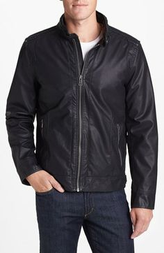 Black Rivet Faux Leather Jacket available at #Nordstrom