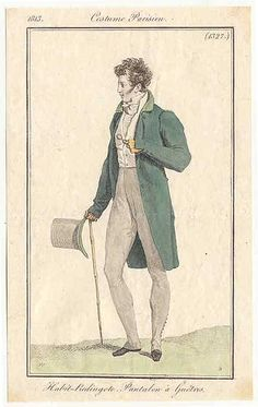 Menswear, Journal des Dames et des Modes, 1813.
