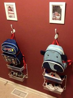 Backpack and kid stuff organization.