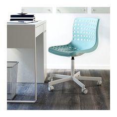 ikea rolling chair home studio richmond dining chairs roberget swivel turquoise you sit comfortably since the is adjustable in height thanks to shape