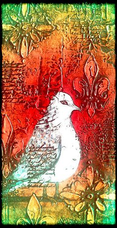 Turtle dove painting by Laura Carter