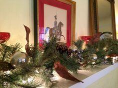 Holiday Mantel DIY Christmas Decor http://allisonsmithdesign.com/no-glue-gun-christmas-edition/ #design