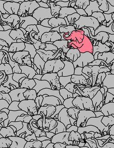Be different-elefant wallpaper Image Elephant, Elephant Love, Elephant Art, Elephant Sketch, Elephant Stuff, Flying Elephant, Baby Elephants, Elephant Tattoos, Elefant Wallpaper
