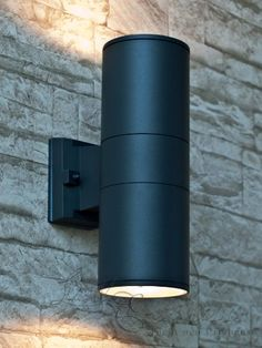 endon severus ip65 led round outdoor downlight black abs plastic