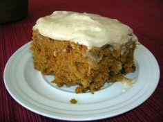 PUMPKIN APPLE CAKE WITH NUTMEG FROSTING
