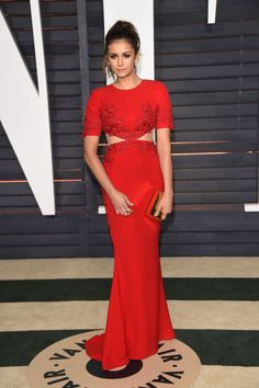 Nina Dobrev. See what all the stars wore to the Academy Awards' biggest after party.