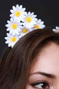 FREE SH & Easy Returns! Shop Daisy Cat Ears Headband featuring a blooming daisy flowers, and satin-wrapped wire frame.