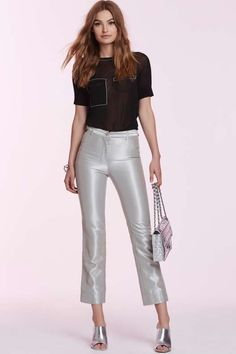 Vintage Chanel Odile Metallic Trousers - Vintage Chanel Clothes