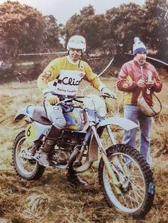 Narcis Casas y Estanis Soler, Bultaco Frontera oficial. Enduro Vintage, Vintage Motorcycles, Old Scool, Enduro Motorcycle, Dirt Biking, Bmw, 50cc, Cross Country, Toys For Boys
