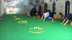 Youth Fitness Bear Crawl Basketball