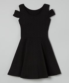 This Black Cutout Skater Dress by Cheryl's Kids Creations is perfect! #zulilyfinds