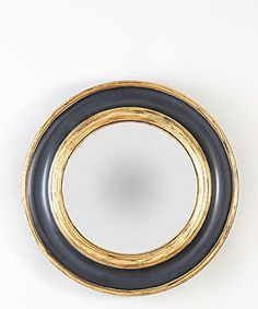 Pimiloco Bull's-eye Wall Mirror, Navy and Gold - beach style - mirrors - by The Well Appointed House