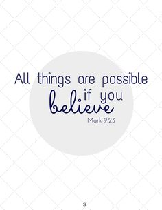 Printable Inspiration Quote from Mark 9:23