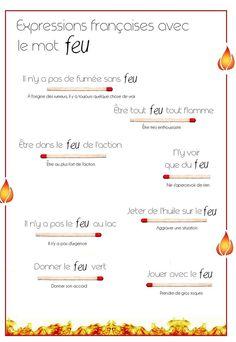 Expressions francaises avec le mot FEU
