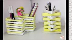 DIY Penstand - Room Decor || PenHolder from papers