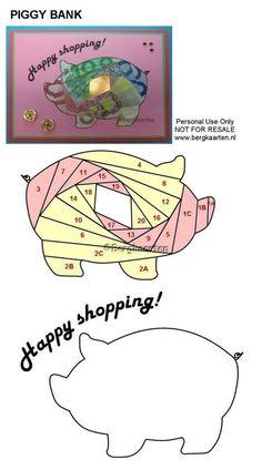 Irisvouwen: Piggy Bank