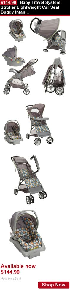 Strollers: Baby Travel System Stroller Lightweight Car Seat Buggy Infant Toddler Ikat Dots BUY IT NOW ONLY: $144.99