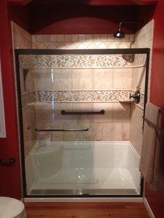 Small Bathroom Makeovers Taking Out The Tub Google Search Shower Makeoversmall Kitchen Makeoverswalk