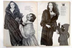 Snaggletooth fur coats Vogue Editorial 1977