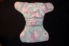 Flanell fitted diaper eco bunny