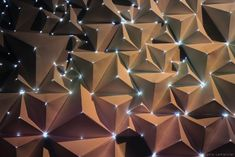 AntiVJ's Joanie Lemercier Maps Light Projections To 3D Origami Walls >>> The Creators Project >>> Created using sheets of A4 paper folded into pyramids onto which he projects light    http://tumblr.joanielemercier.com/