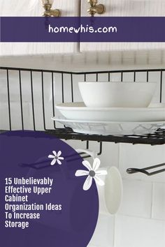 Low on kitchen cabinets storage space? Have trouble finding what you need? Here are 15 organization ideas that'll keep your cabinet clutter free and looking organized. If you love to cook, then you'll surely find these tips useful.Start organizing your upper and lower cabinets now with these 15 organization ideas! #homewhis #cabinetorganization #homeorganization #pantryorganization #spiceorganization #declutter Cabinet Spice Rack, Spice Rack Organiser, Small Cabinet, Kitchen Cabinet Organization, Small Kitchen Organization, Fridge Organization, Organization Ideas, Organizing, Shop Cabinets