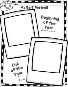 This self portrait activity includes directions/steps to draw a person. You can put it up for Back to School Night, Open House and/or use it as an assessment for your students' portfolios. You can also use both beginning of the year and end of th Back To School Art, Back To School Night, Beginning Of The School Year, New School Year, School Days, Back To School Crafts, Pre School, Dr. Seuss, Cycle 1
