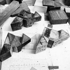 house for a writer / concept models / atelierjones