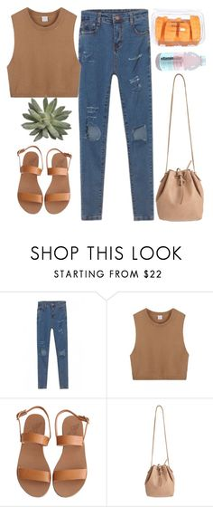 """""""so uncool"""" by chanelandcoke ❤ liked on Polyvore featuring WithChic, Ancient Greek Sandals and Mint & Rose"""
