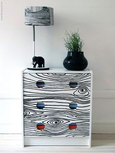 Let's dress up the IKEA Rast beside table! DIY Style: No 3