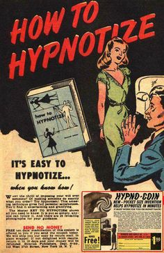 How to Hypnotize iPad Mini Cover - retro gifts style cyo diy special idea Weird Vintage, Vintage Ads, Vintage Posters, Vintage Books, Vintage Images, Old Comics, Vintage Comics, Pin Up, Mad Ads