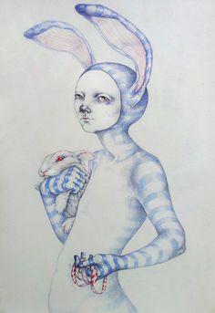 The White rabbit by Zina Nedelcheva, via Behance