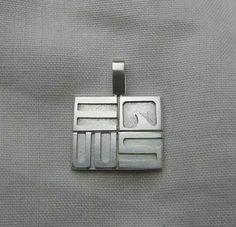 Equus. Silver pendant.