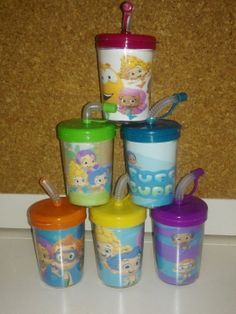 Bubble Guppies Party Favor Cups (Set of 6). These are great to put treats inside of them or to put inside of your party favor bags as a gift.