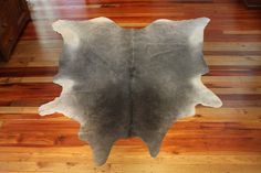 Smokey grey  cowhide rug