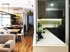 RSDS Architects - Singapore interior design renovation - apartment kitchen and dining area