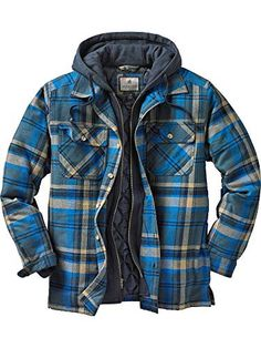Looking for Legendary Whitetails Men's Maplewood Hooded Flannel Shirt Jacket ? Check out our picks for the Legendary Whitetails Men's Maplewood Hooded Flannel Shirt Jacket from the popular stores - all in one. Flannel Shirt Outfit, Flannel Jacket, Sweater Jacket, Camo Shirts, Mens Flannel Shirt, Men Shirts, Jacket Men, Plaid Flannel, Blue Plaid