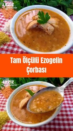 Tam Ölçülü Ezogelin Çorbası - Well Tutorial and Ideas Best Soup Recipes, Pasta Recipes, Vegetarian Recipes, Dinner Recipes, Turkish Recipes, Ethnic Recipes, Turkish Kitchen, Dinner For 2, Homemade Beauty Products