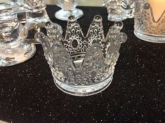 Beautiful New Princess Crown Candle Holder Clear Party Table Decorations King Queen Favors Candle Crown holder. Mermaid Birthday Decorations, Princess Party Decorations, Baby Shower Table Decorations, Wedding Decorations, Princess Party Supplies, Princess Party Favors, Baby Shower Favors Girl, Baby Shower Princess, Candle Favors