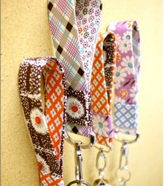 Fun fabric keychains made in under an hour! #creativitymadesimple