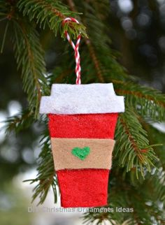 Creative Ways Of Decorating With Ornaments Without A Tree #DIY Xmas  Ornaments, Felt Ornaments
