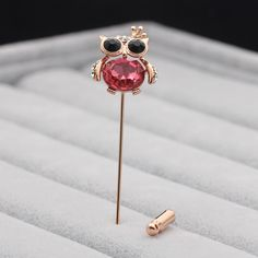 a4afea287 UALGL Fashion Animal Brooch Jewelry Owl Lapel Pin Men Suit Safety Pins  Broches Elegant Crystal Brooches For Women Wedding Gift
