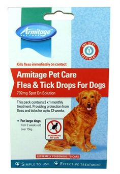 Armitage Pet Care Flea And Tick Drops For Dogs