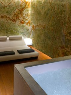 Bulgari Spa at Bulgari Hotel, Knightsbridge, London Bulgari Hotel London, Bvlgari Hotel, Light Architecture, Architecture Details, Gym Interior, Interior Design, Spa Design, Bath Design, Natural Interior