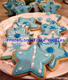 snowflake-#frozen-cookies-#recipe