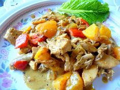 Curried Chicken With Peaches