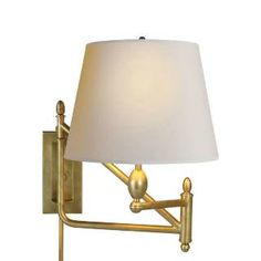 Master Bedroom - beside option 1: Visual Comfort TOB2203HAB-NP Thomas OBrien Small Paulo Bracket 1 Light Wall Sconce in Hand Rubbed Antique Brass with Natural Paper Shade priced at $474.50 at Homeclick.com.
