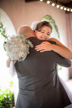 Daddy/Daughter First Look. Bluffton's Best Wedding Photographer 2012 & 2013.