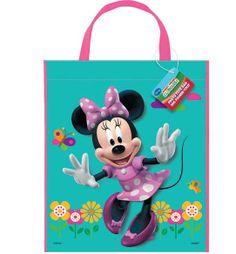 One MINNIE MOUSE Bowtique Favor Tote Bags 13 x by MYBDPcreations, $2.59